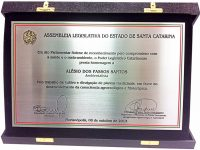 Homenagem da Assembléia Legislativa do Estado de Santa Catarina